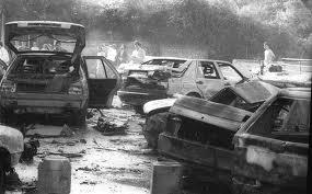 Una immagine della strage avvenuta in via D'Amelio nel 1992